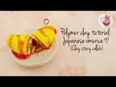 Polymer clay tutorial: Japanese omu-rice (Clay Story collab)