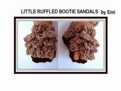 RUFFLED top baby SANDAL BOOTIES, part 2. free crochet pattern