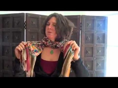 Scarf How To--How to Tie a Scarf--Lesson 2: The Simple Twist