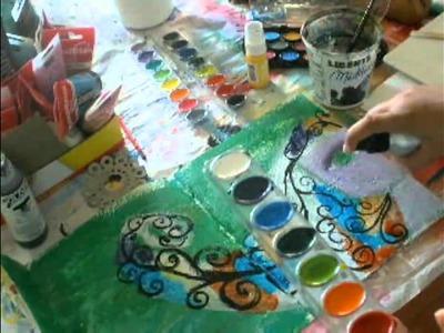 """She Let Go"" Mixed Media Art Journal painting"