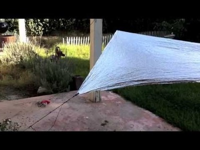 Space Blanket Trap and survival kit.