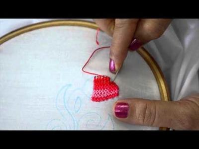 Strawberry stitch hand embroidery