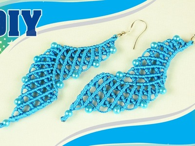 The Blue Lagoon: Macramé Earrings Tutorial