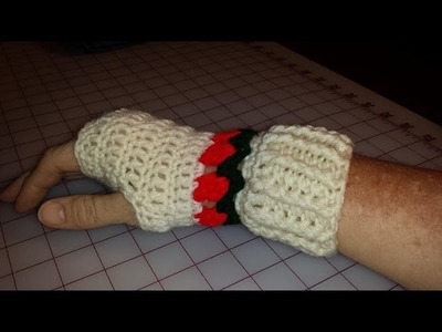 Tulip Fingerless Mitts Part 1