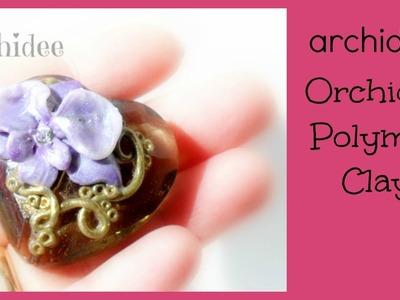 Tutorial Orchidea  DIY | Polymer Clay Orchid | Modellazione e uso di Mica Powders