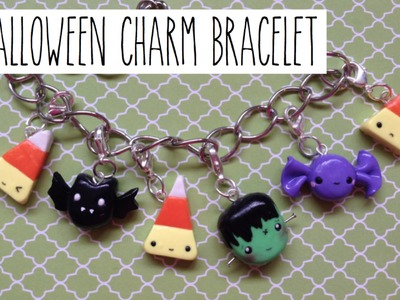 TUTORIAL: Polymer Clay Halloween Charm Bracelet: Collab with CraftyLicious