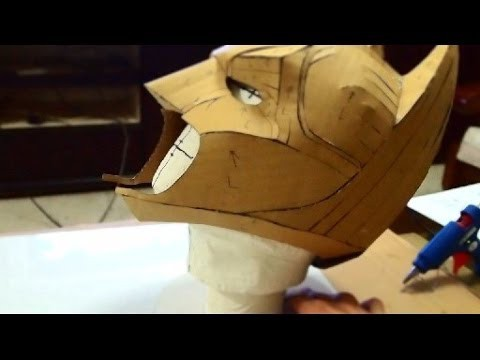 #23: Batman Cowl DIY 1.3 - cardboard, cut & hot glue (with template)