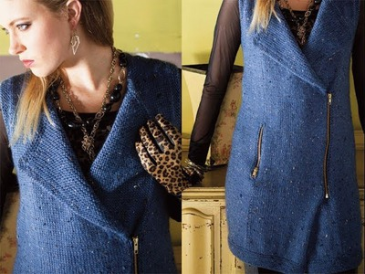 #8 Moto Vest, Vogue Knitting Winter 2013.14