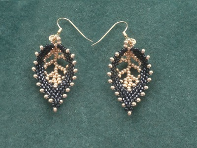 "Beading4perfectionists : Russian Leaf with a ""vein"" done with seedbeads beading tutoriall"