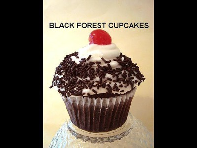 BLACK FOREST CUPCAKES, how to diy, (vegan)