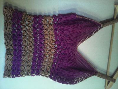Blusa tejida a crochet  parte 3