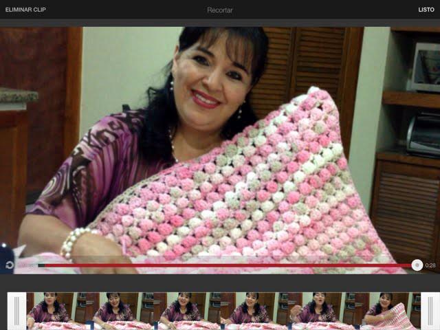 Colchita Lili para bebe en crochet - Tejiendo con Laura Cepeda