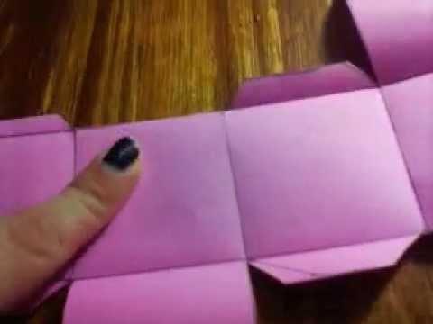 Como hacer una caja de papel sin plantilla. DIY. CAja en origami. caja Scrapbook :)