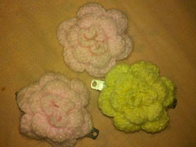 Como hacer una flor abultada a crochet en Español