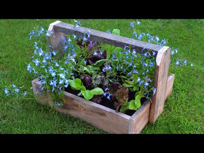 Convert your diy Wooden Trug into a Rustic Planter
