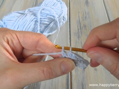 (crochet) How To - Double Crochet (dc) - Absolute Beginners