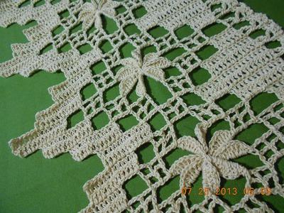 Crochet orilla de picos en flor  2 de 4
