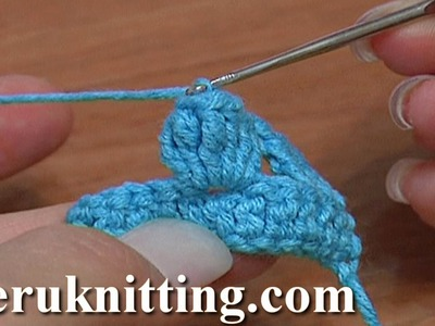 Crochet Popcorn Stitch Tutorial 11 Part 4 of 5 6-Treble Crochet Popcorn Stitch
