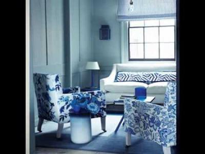 DIY Blue living room decorating ideas