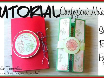 DIY Christmas Paper Bag - Progetto e Tutorial delle Confezioni.Scatoline di Natale per bijoux