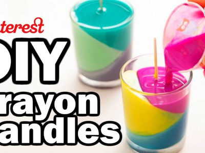 DIY Crayon Candles - Man Vs Pin - Pinterest Test #54