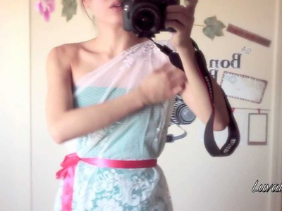 DIY : Curtain dress series part 1 of 4
