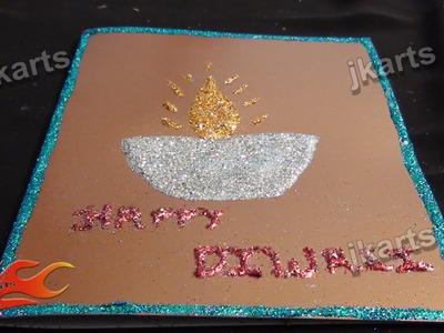DIY Glitter diwali Greeting JK Arts 231