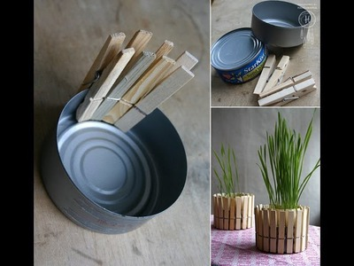 DIY Home Decor |  Tuna Can to Modern Plant Decoration