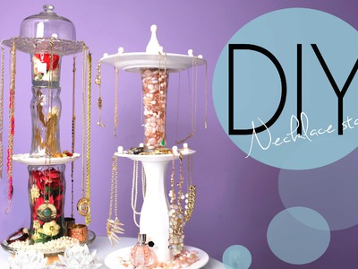 DIY Necklace and Jewelry Display Spinning Stand {How-To Make}