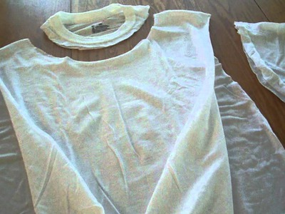 DIY: no sew t-shirt to vest (Hannah)