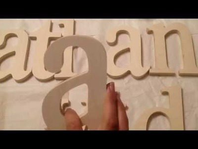 DIY nursery decor Baby Name In Wood Letter