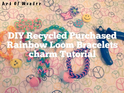 DIY Recycled Rainbow Loom Purchased Bracelets Tutorial | Use Your Polymer Clay Charms