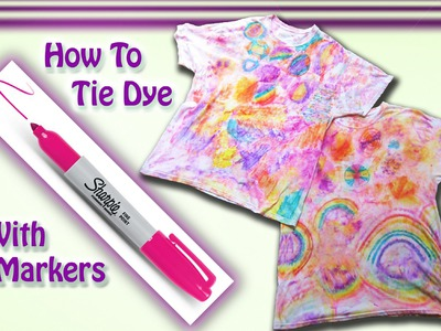DIY Tie Dye T-shirt With Sharpie Markers