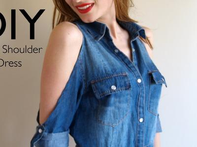 DIY: Vestido con los hombros al aire ;)