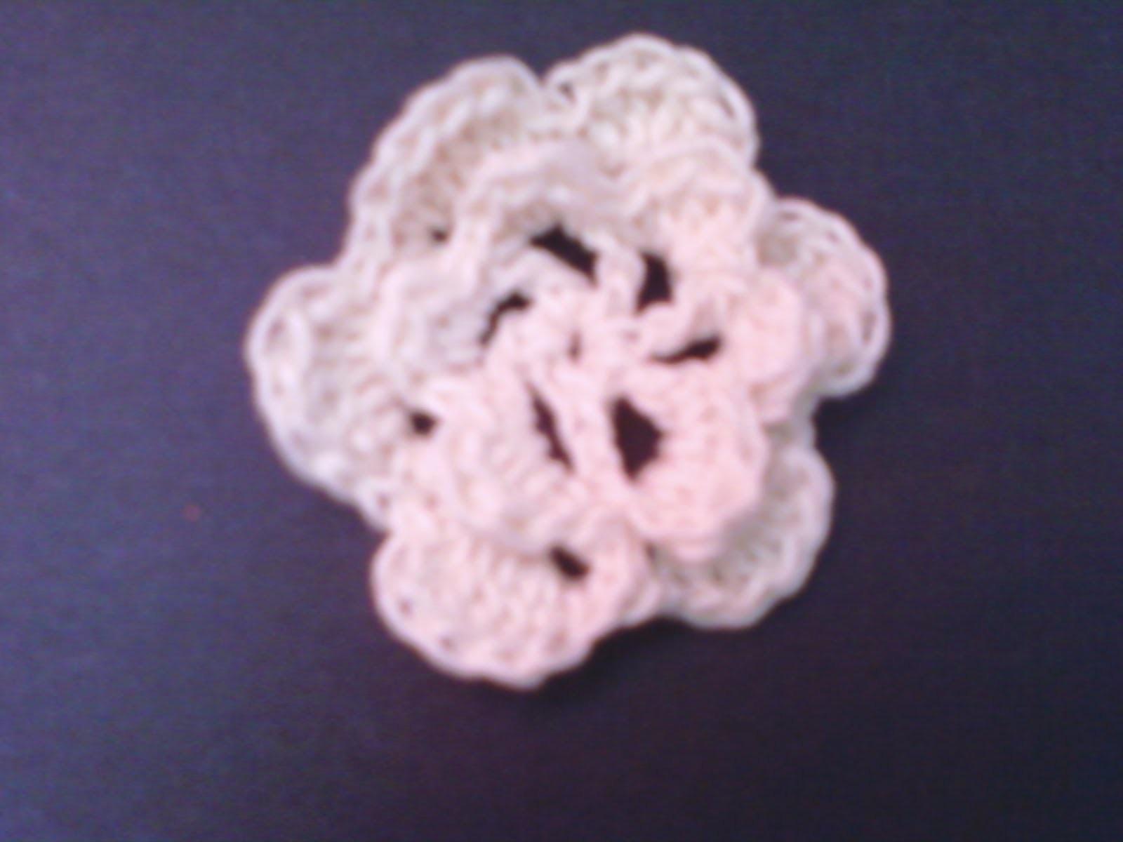 Flor sencilla en velocidad normal -Tutorial de tejido crochet