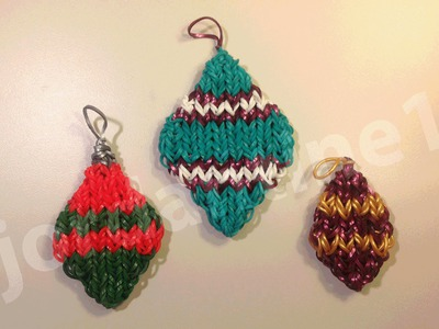 How To Make A Rainbow Loom Diamond Shaped Christmas Ornament Charm