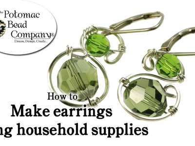 How to Make Earrings Using Household Supplies
