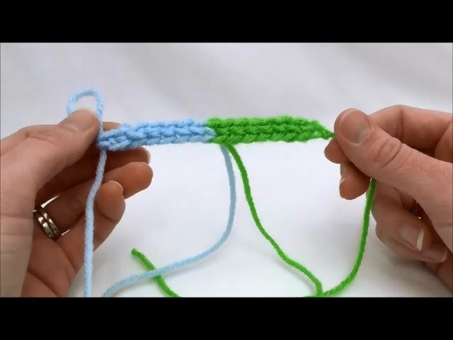 Left Hand How To Change Color While Making A Foundation Single Crochet