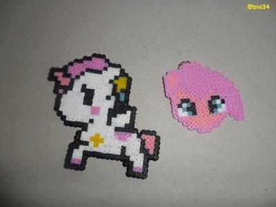 Pinkie Pie y caballito hama beads mini