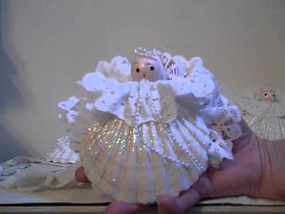 Sea Shell Christmas Angel Decorations & Beaded Tree!