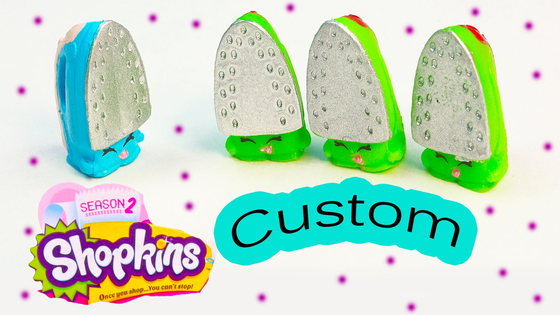 Shopkins Season 2 Custom Blue Sizzles DIY Inspired Painted Easy Fun  Toy Craft Cookieswirlc