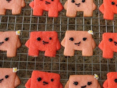 Super Meat Boy & Bandage Girl Cookies - Quake n Bake!
