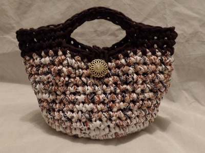 T Shirt Yarn #Crochet Purse Handbag #TUTORIAL