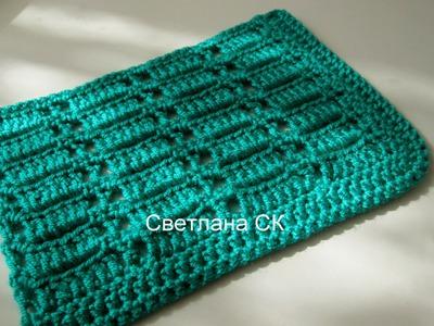 Узоры крючком 4, крючок для начинающих. crochet pattern