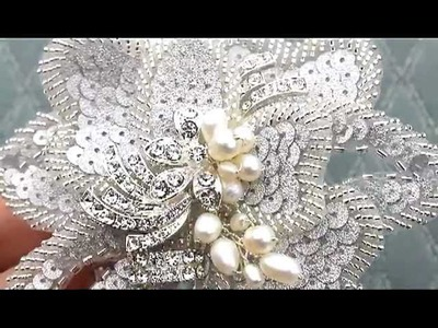 Vintage Beaded Hair Flower by Hair Comes the Bride