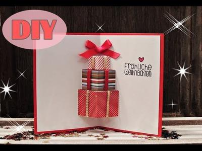 Weihnachtskarten selber basteln #7 - Weihnachtsgeschenke - Christmas Card DIY