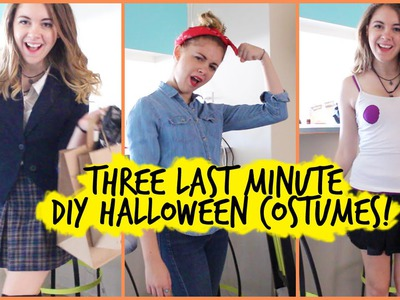 3 DIY Last Minute Halloween Costumes! || Regina George, Clueless, & Rosie the Riveter