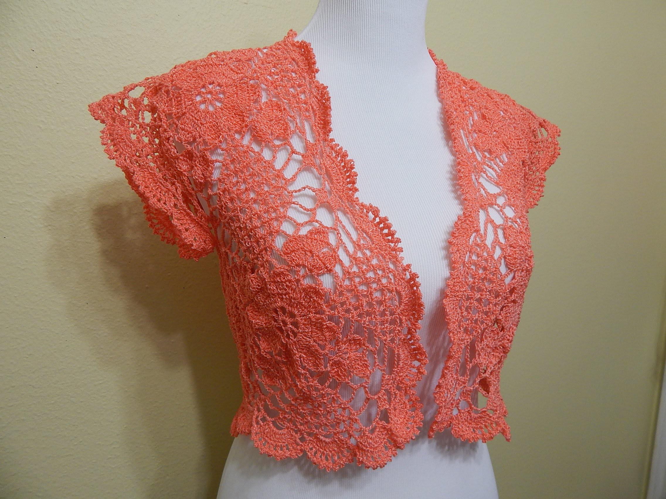 Bolero Primavera Crochet parte 2 de 2