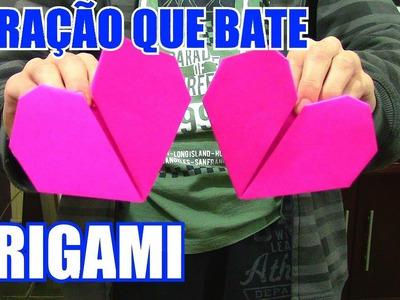 Como Fazer um Coração de Origami que Bate! - dia dos namorados