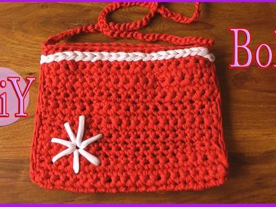 Cómo hacer un Bolso de trapillo (con crochet) - Manualidades para todos